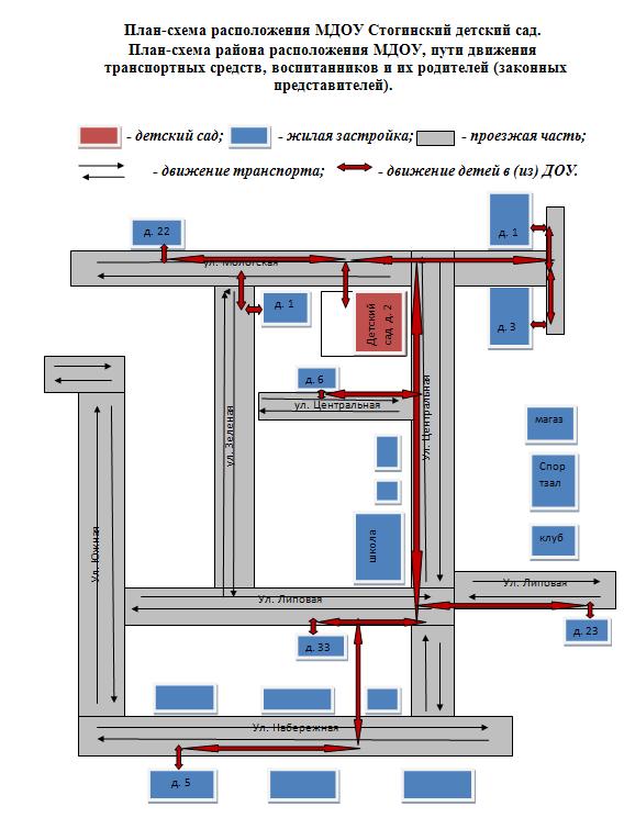 План-схема дорожной